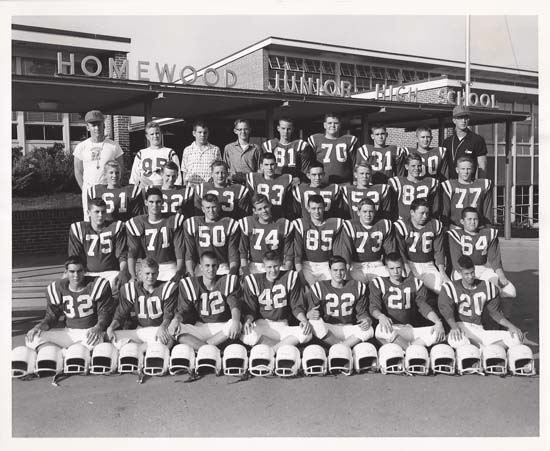 1959 Football Team at Homewood Jr. High